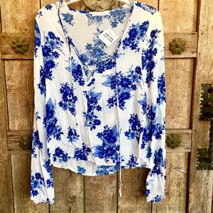 """Darling Blue & White """"Honey Punch"""" Top by WILA"""